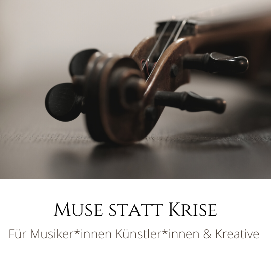 Muse statt Krise Coaching Mentoring Kurse für Musikerinnen Musiker Künstlerinnen Künstler Kreative Potentialentfaltung